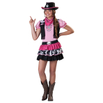 Teens Giddy Up Girl Cowgirl Costume - Age 12-14 Years - 1 PC