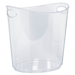 Clear Plastic Ice Buckets 22 x 24 x 19cm - 6 PC