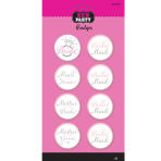Hen Party Bridal Party Badges - 6 PKG/8