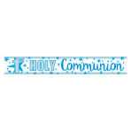 First Holy Communion Holographic Blue Banner 2.7m - 12 PC