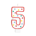 Giant Size Numeral Candles 13.3cm #5 - 12 PC
