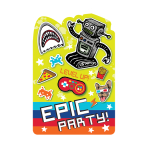 Epic Party Postcard Invitations - 6 PKG/8