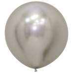 "Reflex Silver 981 Latex Balloons 24""/60cm - 3 PC"