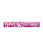 Happy 30th Birthday Foil Banners 2.7m - 12 PC