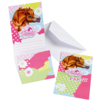 Charming Horses Invitations & Envelopes - 10 PKG/6
