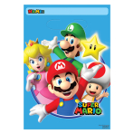 Super Mario Folded Loot Bags - 6 PKG/8