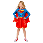 Supergirl Sustainable Costume - Age 8-10 Years - 1 PC