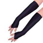 Long Fingerless Satin Gloves - 6 PC
