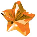 Orange Star Balloon Weights 150g/5oz - 12 PC