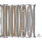 "Silver Half Decorator Air-Filled Unpackaged Foil Panel 20""/50cm w x 21""/53cm h D35 - 3 PC"