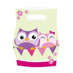 Owls Plastic Party Bags - 10 PKG/8