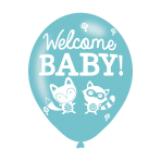 """Welcome Baby Assorted Colours Latex Balloons 11""""/27.5cm - 10 PKG/6"""