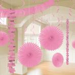 New Pink Room Decoration Kits - 6 PKG/18