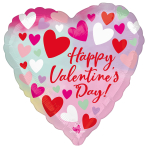 Pastel Happy Valentines Day Standard Foil Balloons S40 - 5 PC