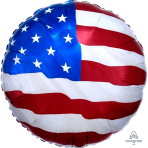 "USA Flying Colours Standard Foil Balloons 18""/45cm S40 - 5 PC"