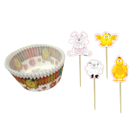 Easter Cup Cake Cases & Picks - 6 PKG/100