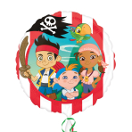Jake & The Neverlands Pirates Non Message Standard Foil Balloons S60 - 5 PC