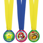 Super Mario Mini Award Medals - 6 PKG/12
