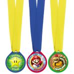 Super Mario Mini Award Medals - 6 PKG/12