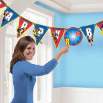 DC Super Hero Girls Add-an-Age Letter Banner 3.2m x 25cm - 6 PKG