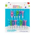 HAPPY BIRTHDAY Letters Bright Colour Candles 3.4cm - 12 PKG/13