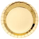 Metallic Gold Plates 23cm - 6 PKG/8