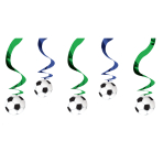 Football Hanging Swirl Decoration 61cm - 6 PKG/5