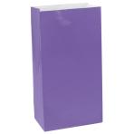 Purple Paper Bag Packaged 24cm h x 13cm w - 12 PKG/12