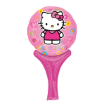 "Hello Kitty Inflate-a-Fun Foil Balloon 6""/15cm w x 12""/30cm h A05 - 5 PC"