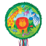 Wild Kingdom Pull Pinatas - 12 PC