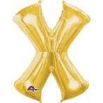 """Letter X SuperShape Gold Foil Balloon 34""""/""""86cm P50 - 5 PC"""