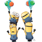 "Despicable Me Stacker Foil Multi-Balloons 40""/101cm w x 61""/154cm h P75 - 5 PC"
