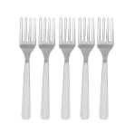 Silver Heavy Weight Plastic Forks - 12 PKG/48