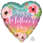 Flowers & Ombre Mother's Day Standard XL Foil Balloons S40 - 5 PC