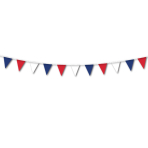 French Red/White/Blue Pennant Bunting    - 7m 6 PKG