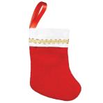 Mini Felt Red Stockings 7.6cm - 12 PKG/10