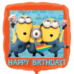 Despicable Me Minions Happy Birthday Standard Foil Balloons  - S60 5 PC
