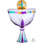 "Communion Cup SuperShape Foil Balloons 20""/50cm w x 31""/78cm h - P35 5 PC"