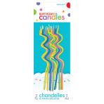 Skinny Assorted Coil Candles 12.5cm - 12 PKG/12