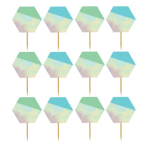 Shimmering Party Iridescent Food Picks - 12 PKG/24