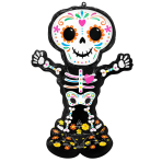 """Day of the Dead AirLoonz Foil Balloons 35""""/88cm w x 52""""/132cm h P70 - 3 PC"""