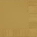 Gold Luncheon Napkins 33cm 2ply - 12 PKG/50