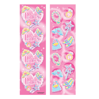 Princess Prismatic Strip Sticker    - 12 PKG/8