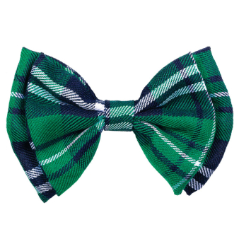 St. Patrick's Plaid Bow Ties 18cm w x 9cm h - 12 PC
