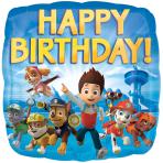 Paw Patrol Happy Birthday Standard Foil Balloons S60 - 5 PC