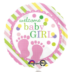 Baby Feet Girl Standard Foil Balloon S40 - 5 PC