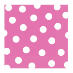 Bright Pink Dots Luncheon Napkins 33cm - 12 PKG/16