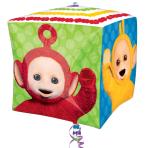 """Teletubbies Cubez Foil Balloons 15""""/38cm w x 15""""/38cm h G40 - 5 PC"""