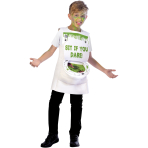 Slimy Toilet Costume - Age 10-12 Years - 1 PC