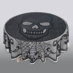 Skull Round Lace Tablecovers 1.77m dia - 6 PC